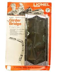 best images about lionel trains cars auction lionel postwar no b214 girder bridge factory sealed in blister pack the cardboard backing