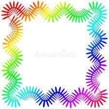 colorful frame border design. Modren Frame Download Rainbow Spikes Square Frame Border Stock Illustration   Of Colors Design 110549967 Throughout Colorful Design O