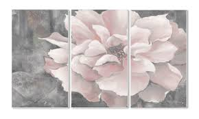 pastel pink peony 3 panel wall art reviews joss main in pink flower on panel wall art review with wall art ideas pink flower wall art explore 7 of 20 photos