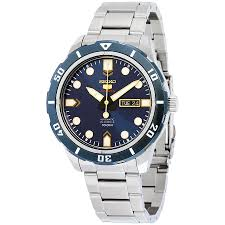 seiko 5 watches jomashop seiko 5 sports automatic blue dial stainless steel men s watch