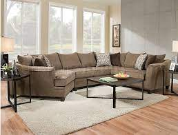 6485 sectional sofa in brown albany