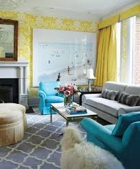40 Charming Blue And Yellow Living Room Design Ideas Rilane Amazing Yellow Living Rooms Interior