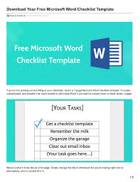 donwload microsoft word download your free microsoft word checklist template