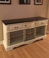 furniture pet crate. Divider, Fascinating Double Dog Crate Rustic Kennels Wall Wooden Floor Frame Photo: Interesting Furniture Pet L