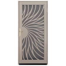 metal security screen doors. Solstice Tan Surface Mount Steel Security Metal Screen Doors R
