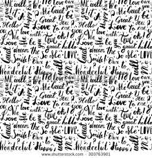 Word Patterns Beauteous Handwritten Vintage Ink Words Vector Seamless Stock Vector Royalty