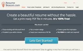 Simple Online Resume Resume Beacon Is A Simple Free Non Flashy Online Resume Builder