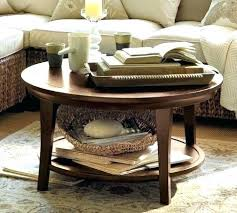 coffee table pottery barn attractive round griffin knock off