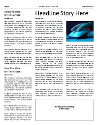 Newspaper Template No Download 3 Column Inside Page Free Newspaper Template Download Word Templates