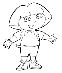 Girl Cartoon Characters Coloring Pages Coloring Home