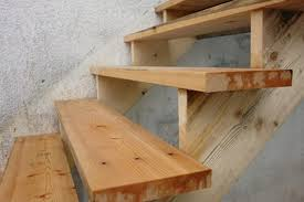 an example of wooden steps