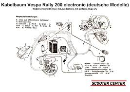 complete wiring loom bgm pro vespa rally200 electronic (german Vespa Px Wiring Loom Diagram schaltplan (sc5001) jpg Electric Scooter Wiring Diagrams