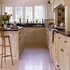 Porcelain Kitchen Floor Kitchen With Black Countertops And Porcelain Floor Tiles