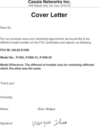 different cover letters x1000 router cover letter x1000_acb fcc model cover letter
