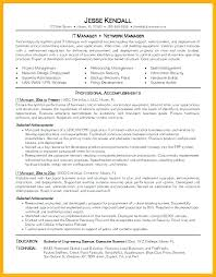 It Manager Resume It Resume Example It Manager Resume Template It