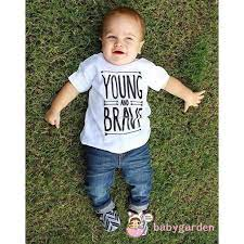 Bộ quần áo gồm áo thun + quần jean denim dành cho trẻ sơ sinh nam nữ | Quần  dài & Quần jeans bé trai