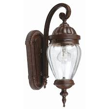 lighting portfolio bronze 1 light outdoor wall lantern