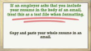 Emailing Your Resumes Helpful Tips For Emailing Your Resume Youtube