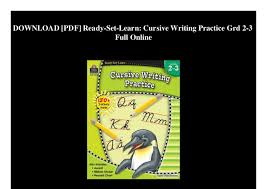 Online Cursive Chart Download Pdf Ready Set Learn Cursive Writing Practice Grd