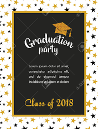 Graduation Party Invitation Template Graduation Class Of 2018 Greeting Card And Invitation Template