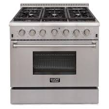 Professional Ovens For Home Kucht Pro Style 36 In 52 Cu Ft Natural Gas Range In Stainless