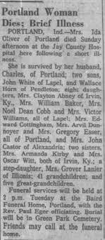 Obituary for Ida Oliver - Newspapers.com