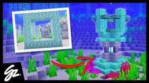 5 Minecraft Conduit Designs Minecraft 1 13 Youtube
