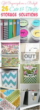 Diy Storage 26 Cute And Thrifty Diy Storage Solutions The Happy Housie