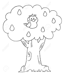 Small Picture Outlined Partridge In A Pear Tree Royalty Free Cliparts Vectors