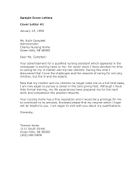 Cna Cover Letter Samples Cover Letter For Nursing Assistant With No Experience Free