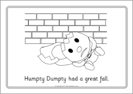 Humpty Dumpty Colouring Sheets Sb320 Sparklebox