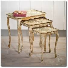 shabby chic couture furniture. Rachel Ashwell Shabby Chic Couture - Florentine Nesting Side Tables, Ashwell, White Decorating Furniture B