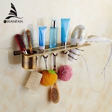 Multi-function Antique Bathroom Hair Dryer Holder Wall Mounted ...