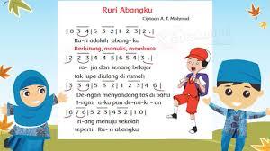 Lagu aku anak indonesia diciptakan oleh at mahmud: Lagu Ruri Abangku Mudah