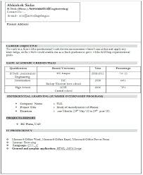 Simple Resume Format Ideal Sample Of A Simple Resume Format Free ...
