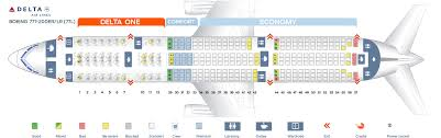 Delta Flight 200 Seating Chart Seat Map Boeing 777 200 Delta Airlines Best Seats In Plane