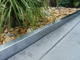 modern metal edging for landscaping