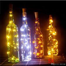 String Light Wine Bottle 2m 20led Wine Bottle Light Cork Shape Battery Copper Wire String Lights For Bottle Diy Christmas Wedding And Party Decoration Rose String Lights Led