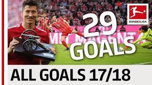 All Goals Robert Lewandowski In The 2017 18 Bundesliga Season