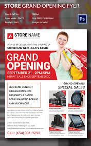business flyer templates psd illustrator format retail store grand opening flyer
