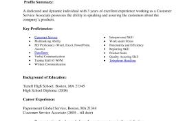 Customer Service Sample Resumes Example Resume Profile Statement