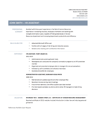 Human Resource Assistant Resume Summary Examples Camelotarticles Com