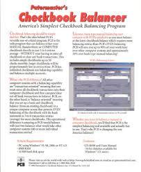 Checkbook Programs For Windows 10 Amazon Com Patermaster Patermasters Checkbook Balancer Windows