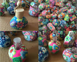 How To Decorate Perfume Bottles 100ml 100 Ml Car Hang Decoration Handmade Polymer Clay Essence Oil 17