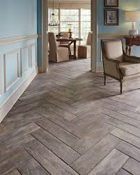 Wood Tile Floor Patterns Impressive A Real Wood Look Without The Wood Worry Wood Plank Tiles Make The