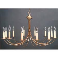 antique brass twelve light candelabra chandelier