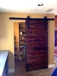 sliding barn door pantry mushroom wood porter a and hardware set we  manufactured for customer in