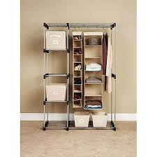 Closet Rods Walmart Interesting Whitmor Double Rod Freestanding Closet SilverBlack Walmart