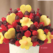 fruit bouquets can make the perfect valentines day gifts and our edible valentines day fruit arrangements with chocolate covered fruit make a great gift for