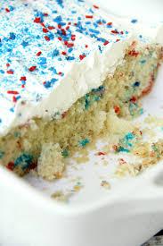 red white blue funfetti cake a simple diy funfetti cake made with a box
